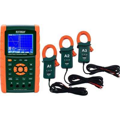 3-Phase Graphical Power and Harmonics with 1200A Current Clamp Probe