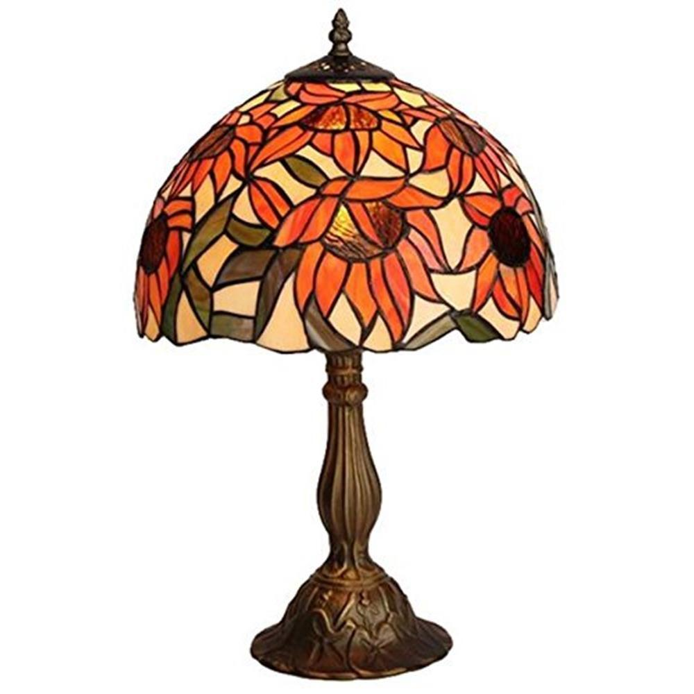 Tiffany Style Sunflower Table Lamp AM1084TL12   The Home Depot