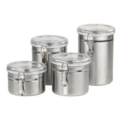 Stainless Steel Canister Set (4-Piece)