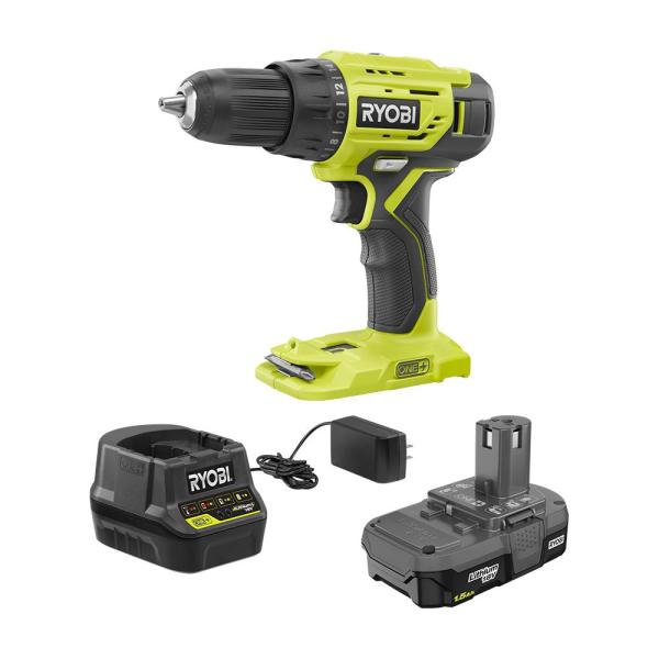 18-Volt ONE+ Lithium-Ion Cordless 1/2 in. Drill/Driver Kit with (1) 1.5 Ah Battery and 18-Volt Charger