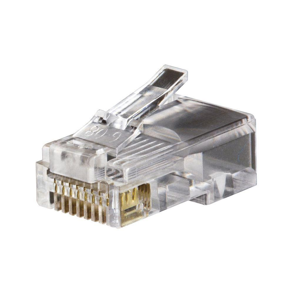 Cable Services In My Area >> Klein Tools Modular Data Plug - RJ45 - CAT5e (50-Pack)-VDV826-602 - The Home Depot
