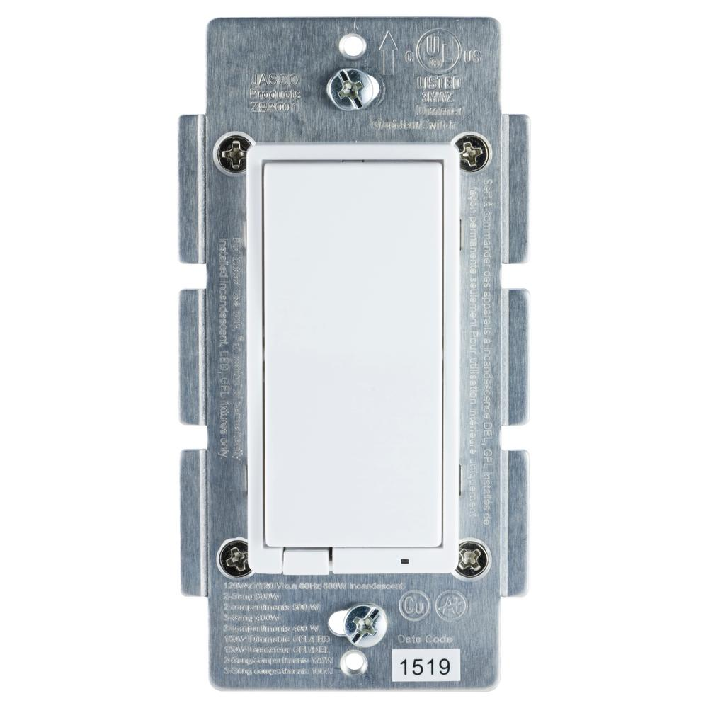 ZigBee In-Wall Energy Monitoring Rocker Smart Dimmer Paddle Style Switch
