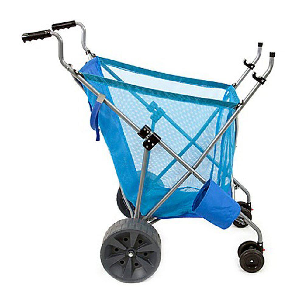 Steel Framed Collapsible Versatile Garden Cart Beach Sand Cruiser in Blue
