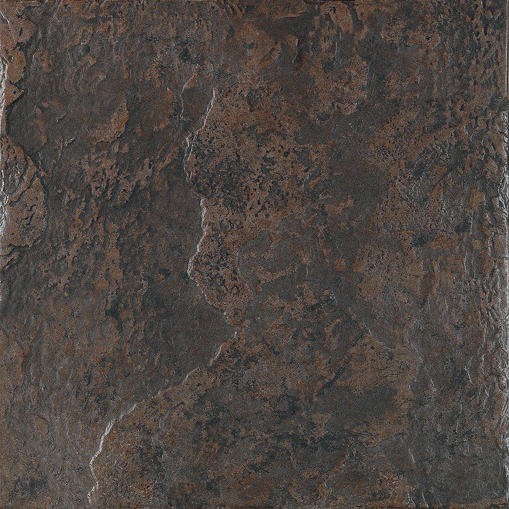 U.S. Ceramic Tile Craterlake Lava 18 in. x 18 in. Glazed Porcelain Floor & Wall Tile-DISCONTINUED