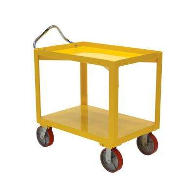 4,000 lb. 24 in. x 36 in. Ergo Handle Cart with Drain