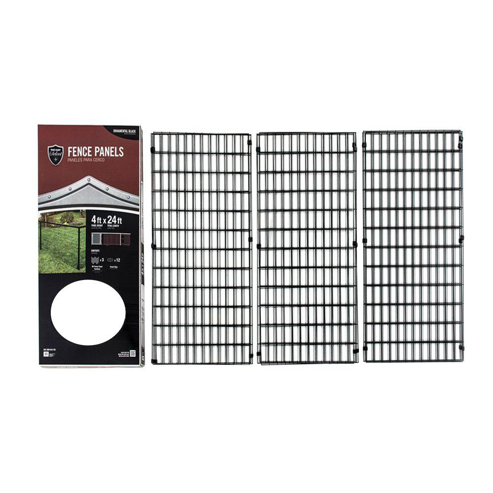 YARDGARD Select 4 ft. x 24 ft. Steel Fence Panel-328803A - The Home ...