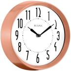 8.75 in. H x 8.75 in. W Wall Clock with Brushed Copper Finish