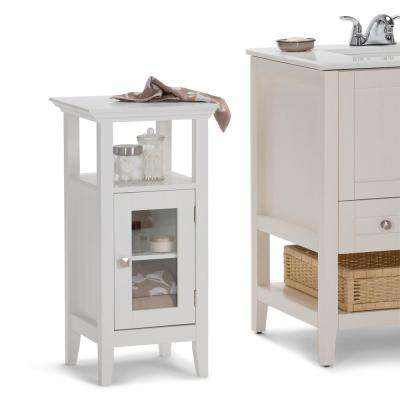 Acadian 15 in. W x 14 in. D x 30 in. H Floor Storage Cabinet in White