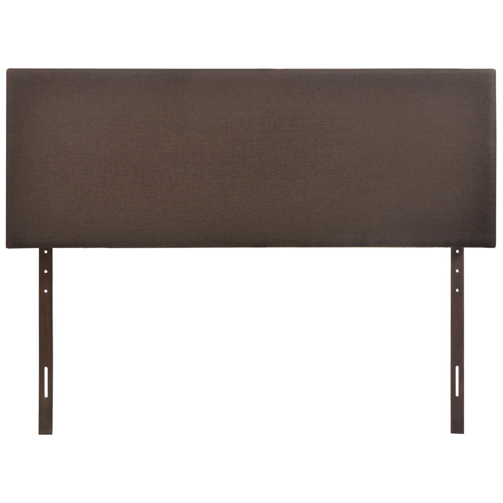 Region Dark Brown Queen Upholstered Headboard