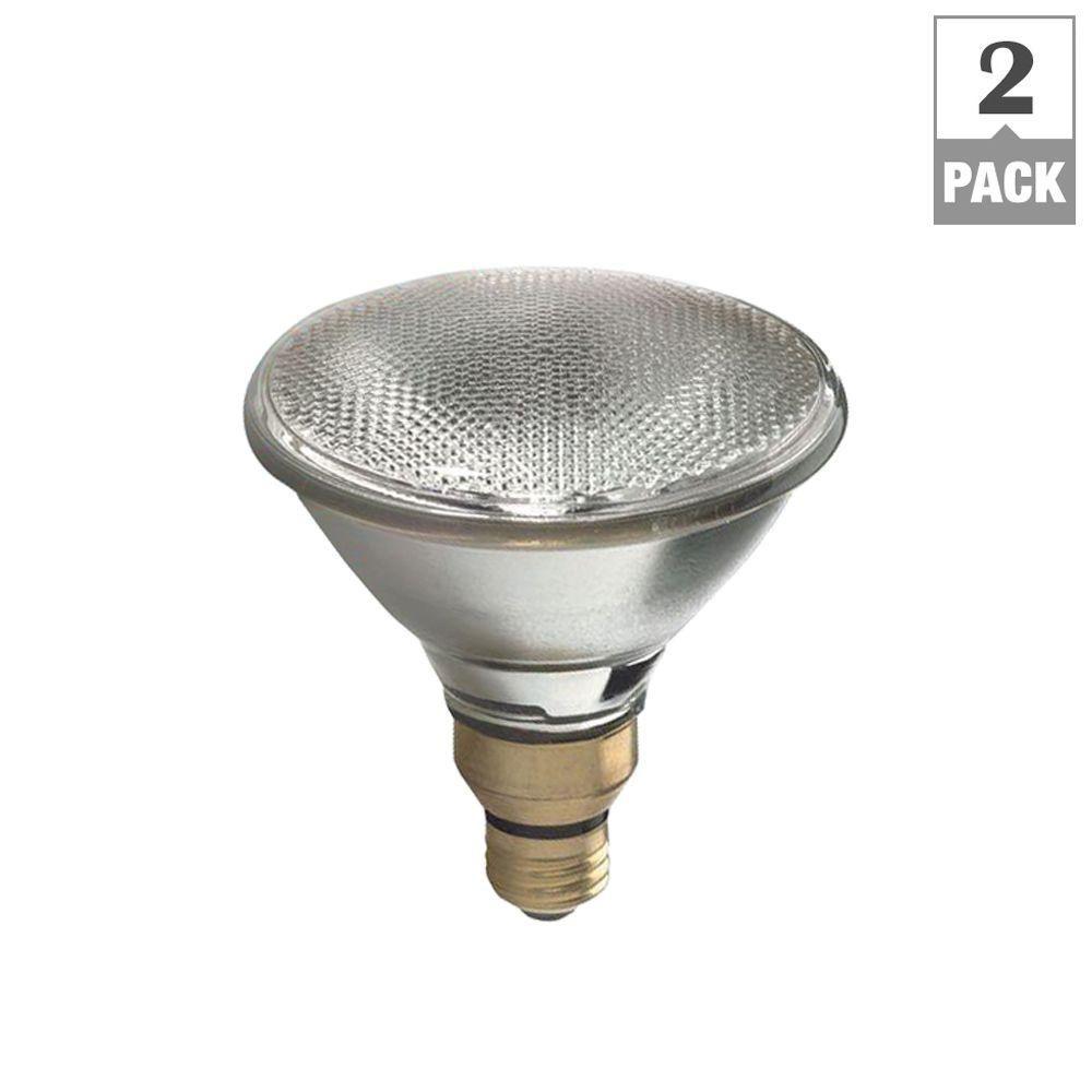 75W Equivalent Halogen PAR38 7-Year Long Life Flood Light Bulb (2-Pack)