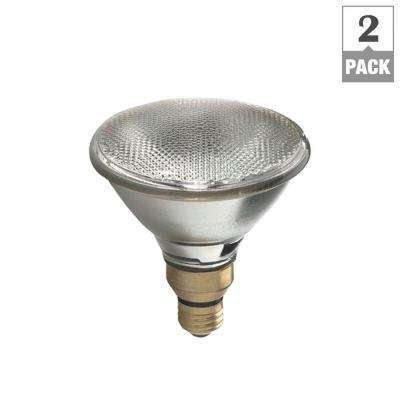 75W Equivalent Halogen PAR38 7-Year Long Life Flood Light Bulb (2-Pack)