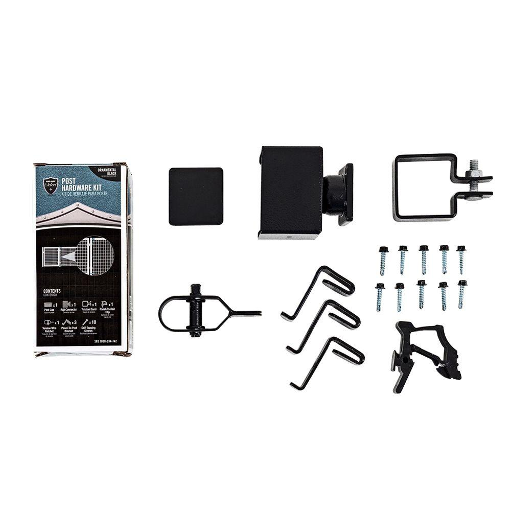 YARDGARD Select YARD GARD Select – SINGLE POST HARDWARE KIT – Connects Top Rail and Fence to Post– Does NOT Include Post #328818A
