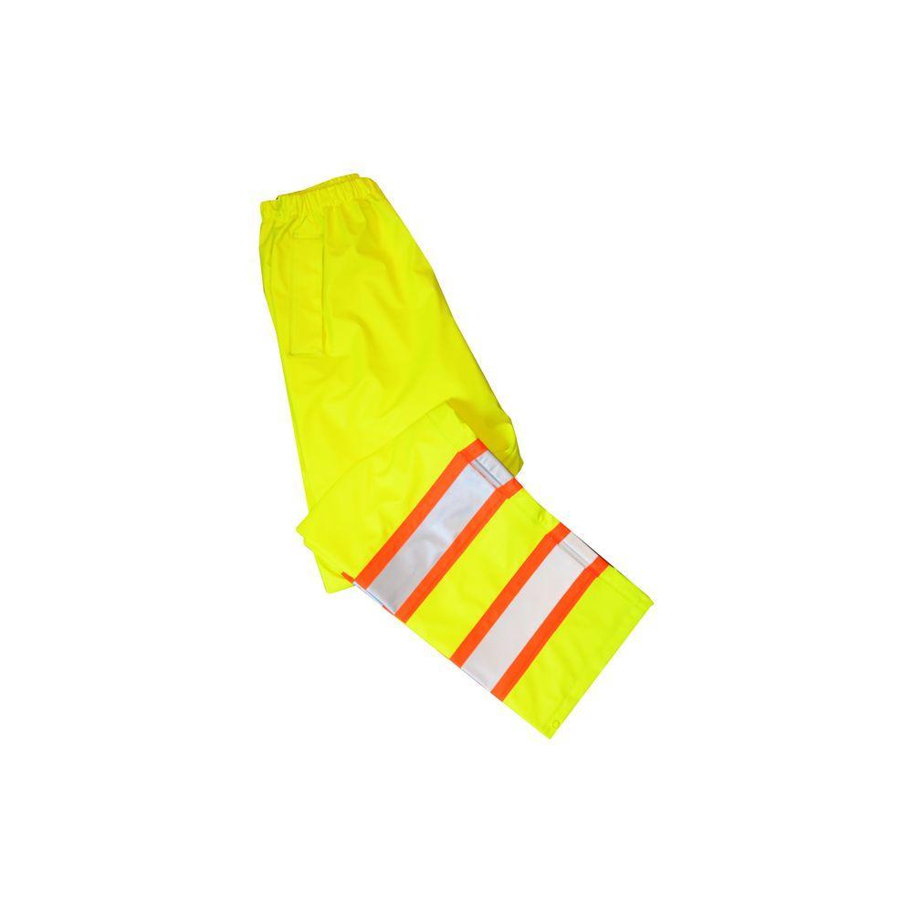 Men's Large Yellow Hi-Visibility ANSI Class 3 Rain Pant