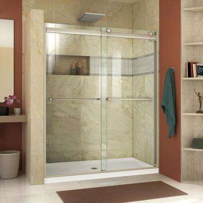 Essence-H 56 to 60 in. x 76 in. Semi-Frameless Bypass Sliding Shower Door in Brushed Nickel