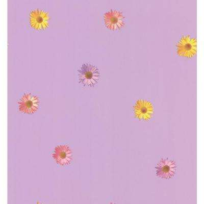 Lilac Spot Floral Wallpaper Sample
