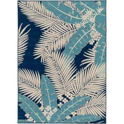 Burrageara Slate 7 ft. x 10 ft. Indoor/Outdoor Area Rug