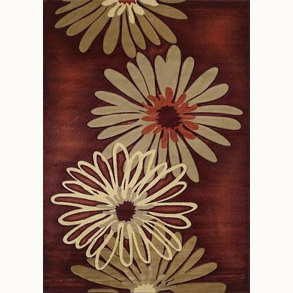 United Weavers Dahlia Terracotta 7 ft. 10 in. x 10 ft. 6 in. Contemporary Area Rug