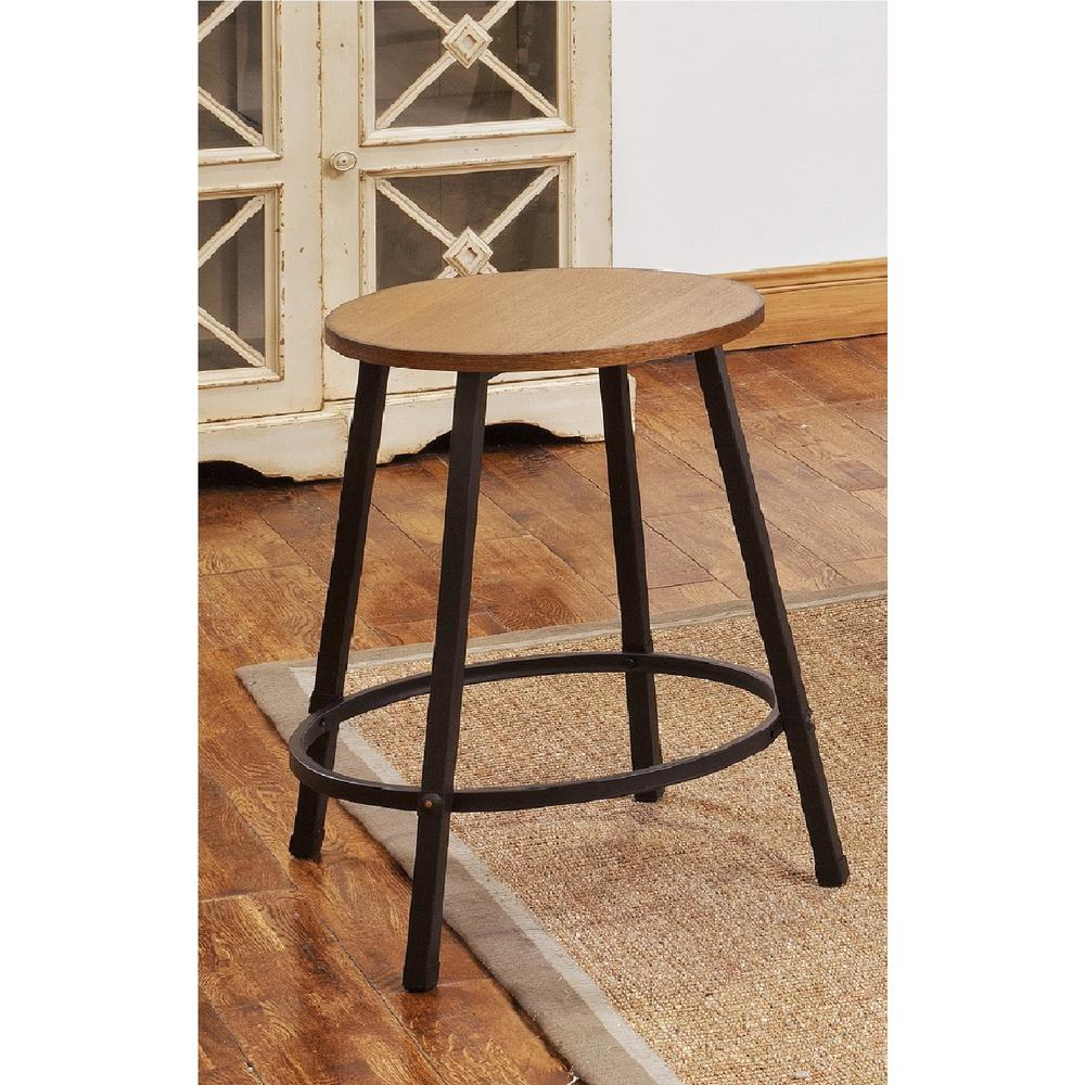Acme Furniture Dora 24 In Oak Bar Stool Set Of 4 72287 The Home Depot