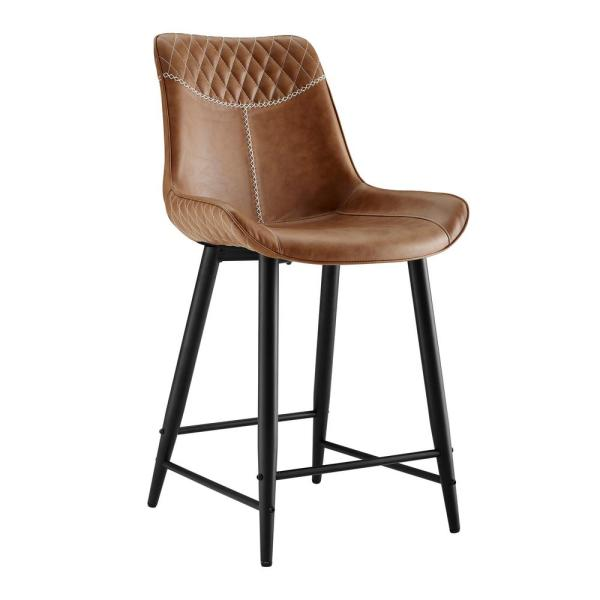 Walker Edison 26 Quot Faux Leather Counter Stool 2 Pack