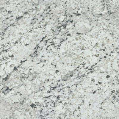4 ft. x 8 ft. Laminate Sheet in White Ice Granite with Artisan Finish