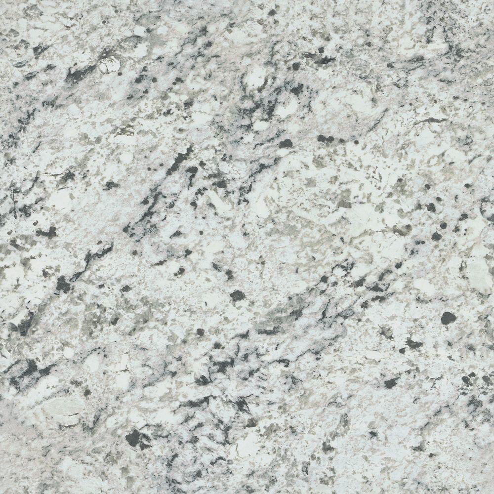 30 in. x 120 in. Pattern Laminate Sheet in White Ice Granite Artisan, White Ice Granite - Artisan