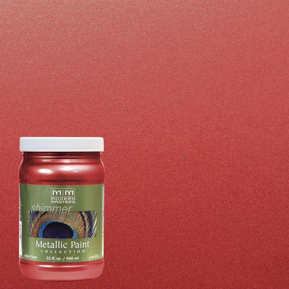 Sashay Red Water Based Satin Metallic Interior Exterior Paint