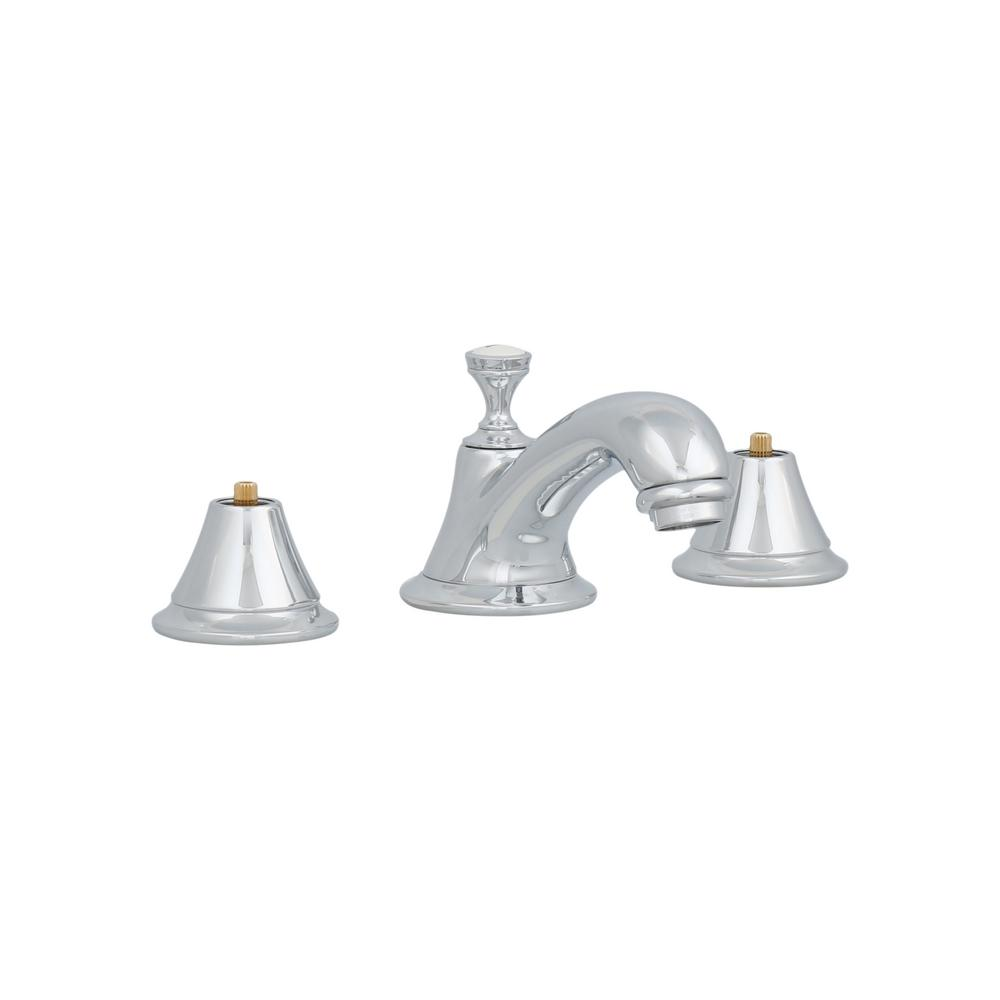 Seabury 8 in. Widespread 2-Handle Low-Arc Bathroom Faucet in Polished Chrome
