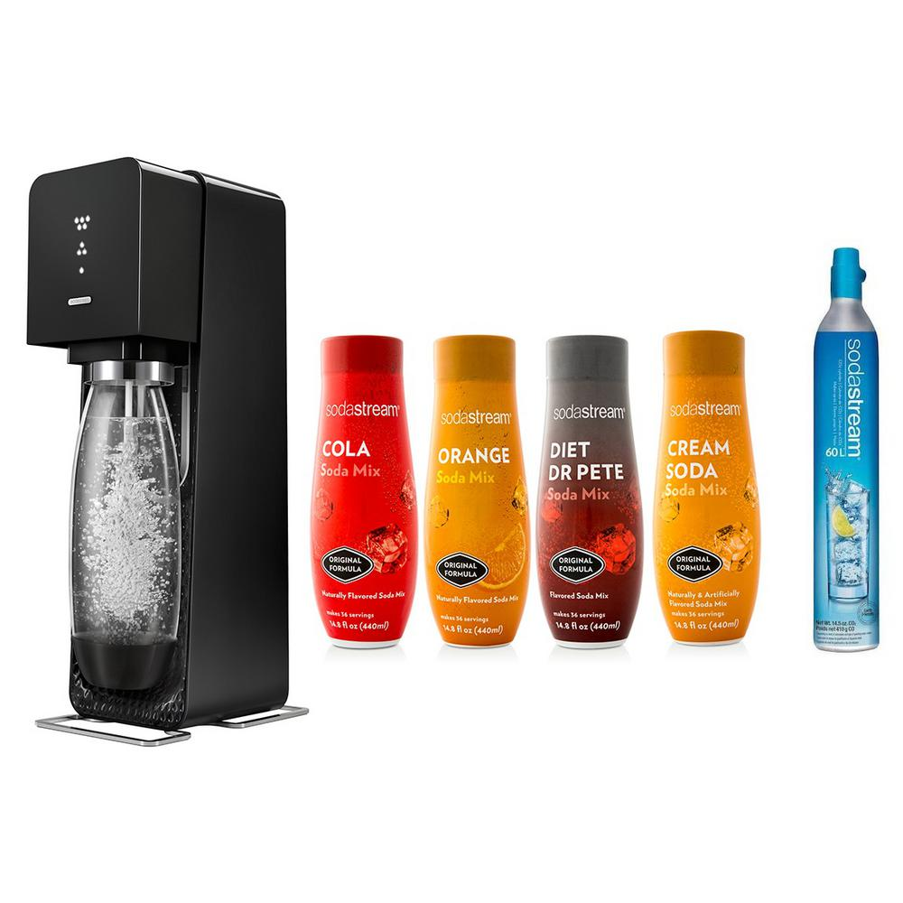 Sodastream Source Home Maker Starter Kit With Variety Pack Soda