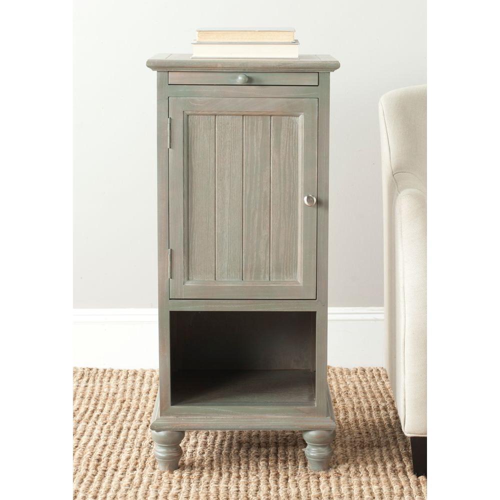 Safavieh Jezabel Ash Grey Storage End Table by