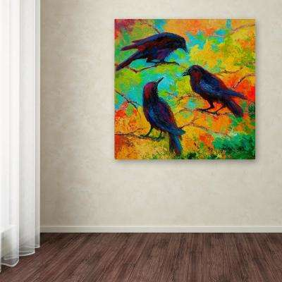"18 in. x 18 in. ""Crows 4"" by Marion Rose Printed Canvas Wall Art"
