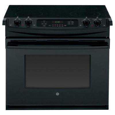 4.4 cu. ft. Drop-In Electric Range with Self-Cleaning in Black