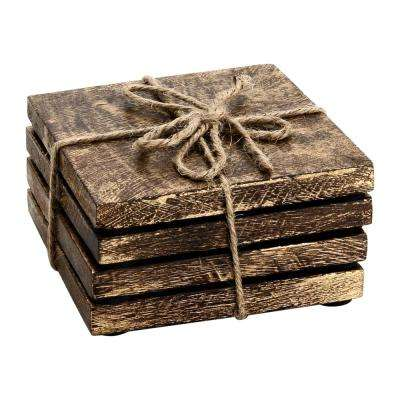 Textured 4-Pieces Square Coaster Set
