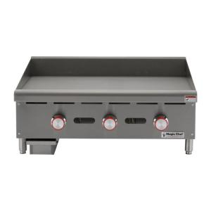 Commercial 36 In Manual Countertop Griddle