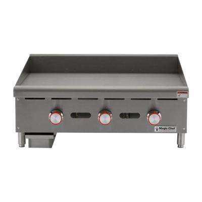 Commercial 36 in. Manual Countertop Griddle