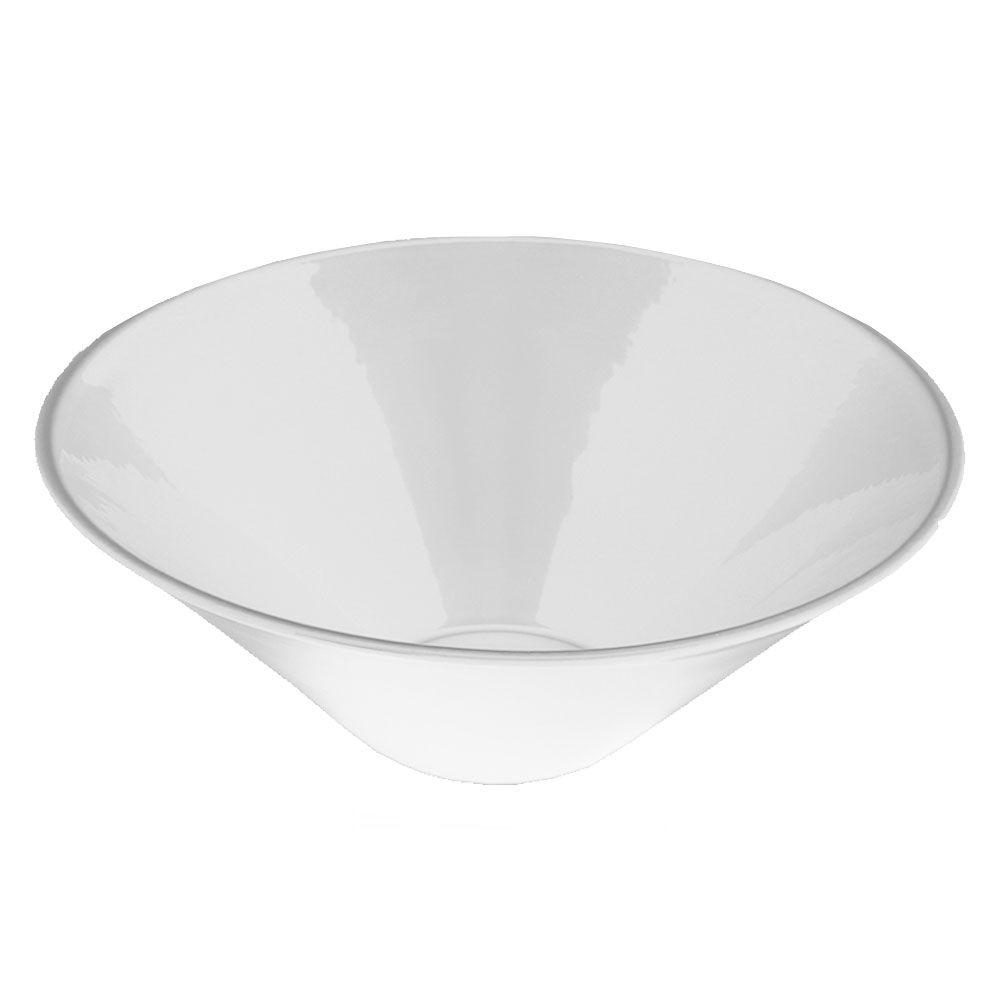 Above-Mounted Bathroom Sink in White
