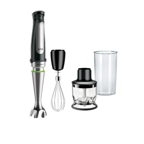 MultiQuick MQ7025X SmartSpeed SS Immersion Hand Blender w/ 1.5 C Food Processor, Whisk and Beaker