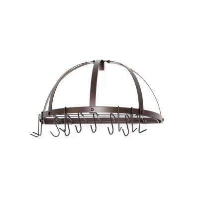 22 in. x 11 in. x 12 in. Oiled Bronze Pot Rack