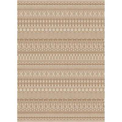 Washable Cadiz Natural 3 ft. x 7 ft. Stain Resistant Runner Rug