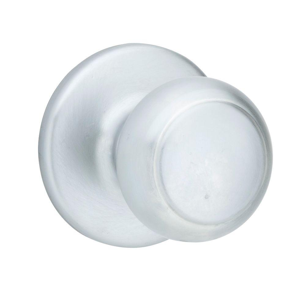 Cove Satin Chrome Hall/Closet Knob