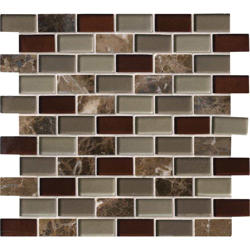Royal Canyon 12 in. x 12 in. x 8 mm Glass/Stone