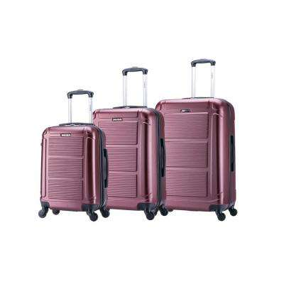 "Pilot lightweight hardside spinner 3 piece Set 20, 24"", 28"" Wine"