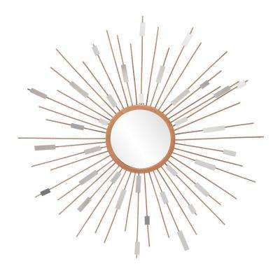 Olivia 36 in. x 36 in. Painted Gold Framed Mirror