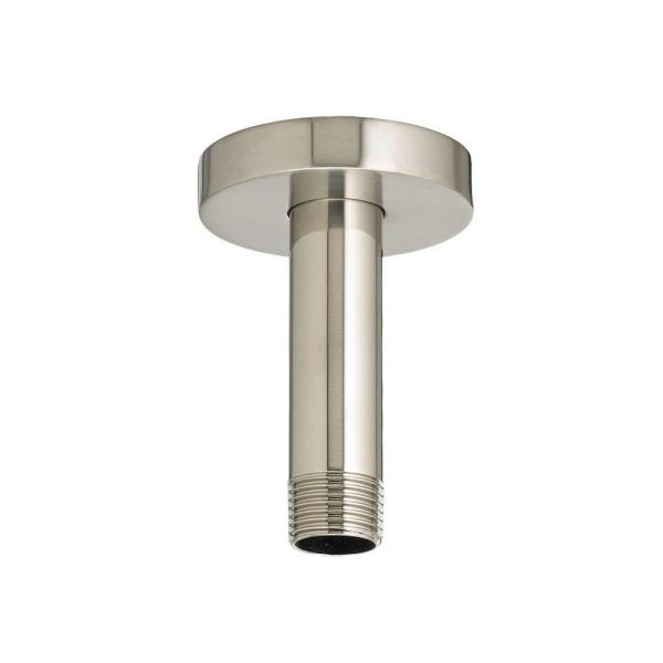 Ceiling Mount 3 in. Shower Arm and Escutcheon, Brushed Nickel