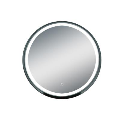 Carlton 31.5 in. x 31.5 in. Lighted Impressions Framed LED Wall Mirror in Black Steel Frame