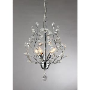 Marie 4-Light Chrome Indoor Crystal Chandelier with Shade by