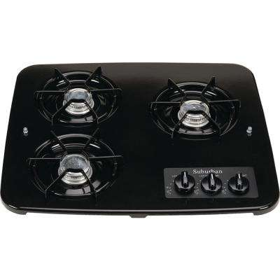 3-Burner Drop-In Cooktop in Black