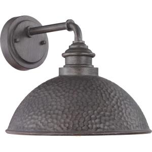 Englewood 1-Light Antique Pewter Outdoor Wall Barn Light Sconce