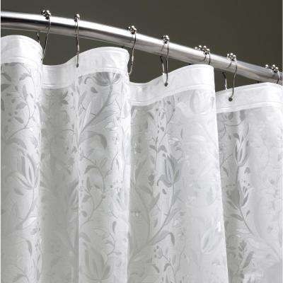 Floral 72 in. Clear 3D Shower Curtain