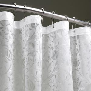 Floral 72 inch Clear 3D Shower Curtain by