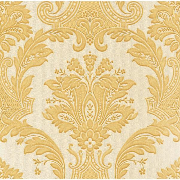Brewster Dis Marco Polo Gold Damask Wallpaper Z1705 The
